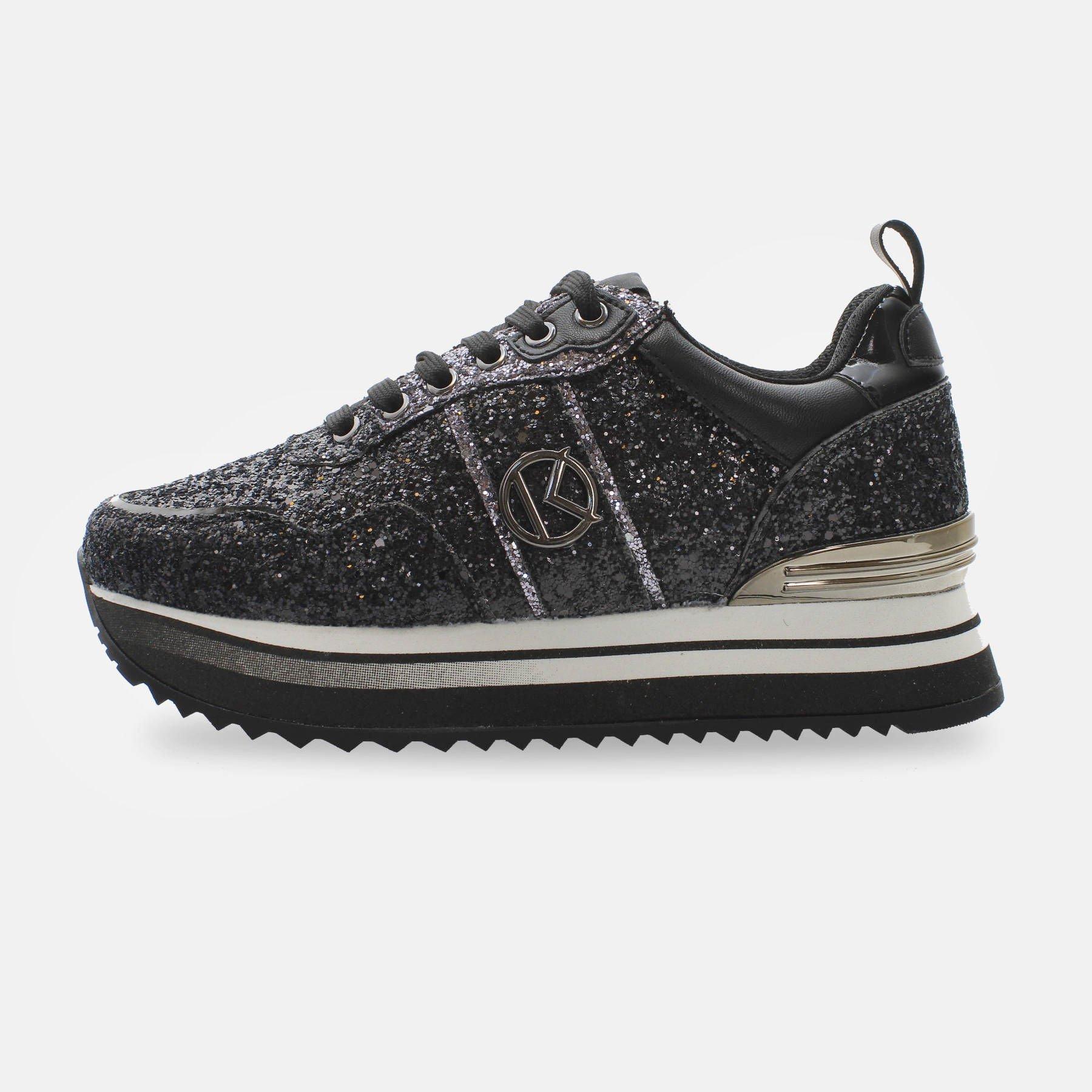 Kharisma Sneakers glitter nero 2018