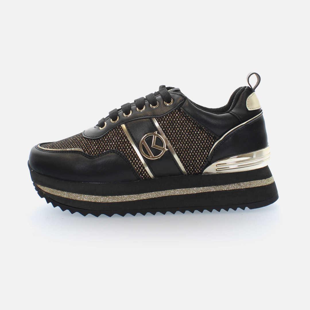 Kharisma Sneakers mesh dettagli nero platino 2017