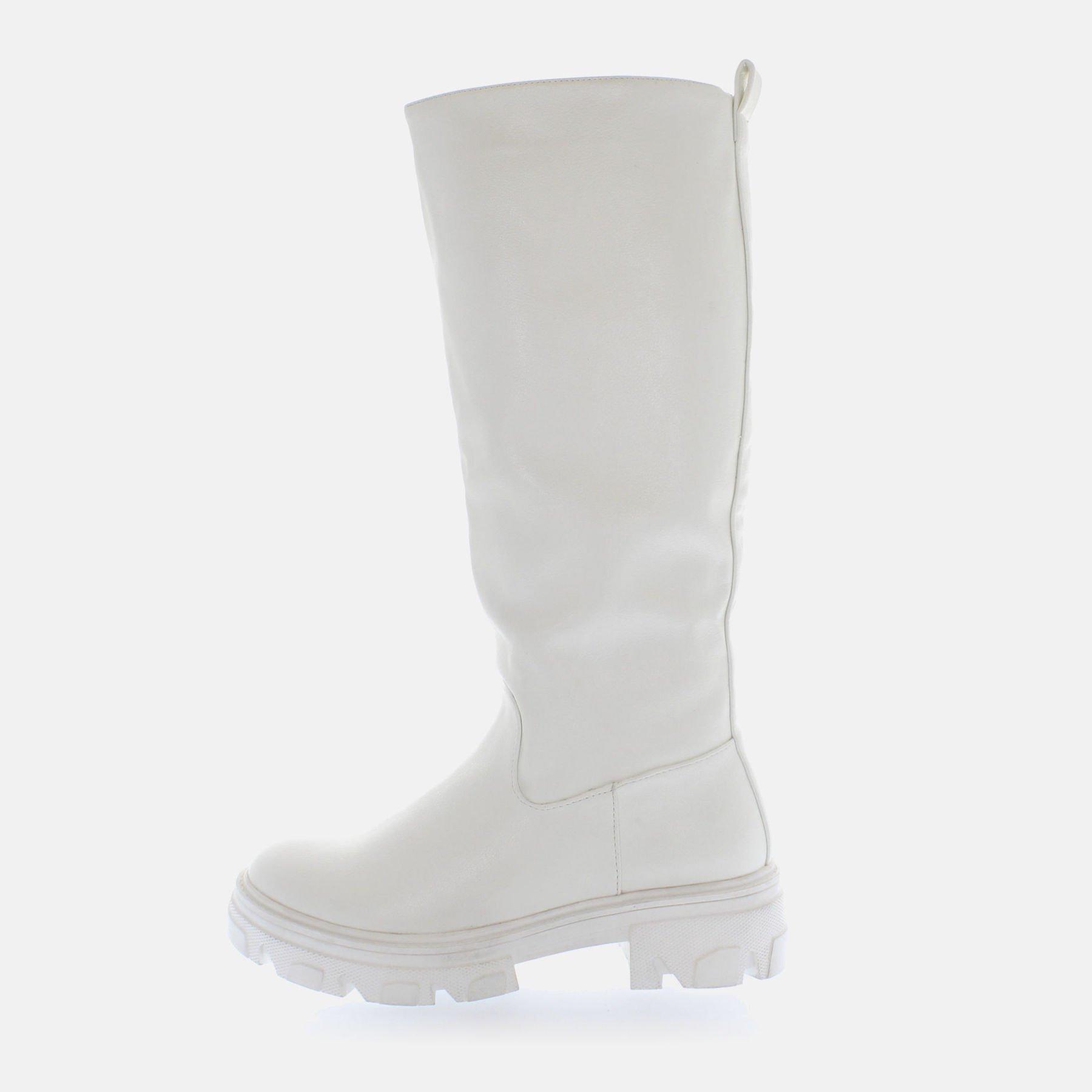Kharisma Stivali combat bianco 2354