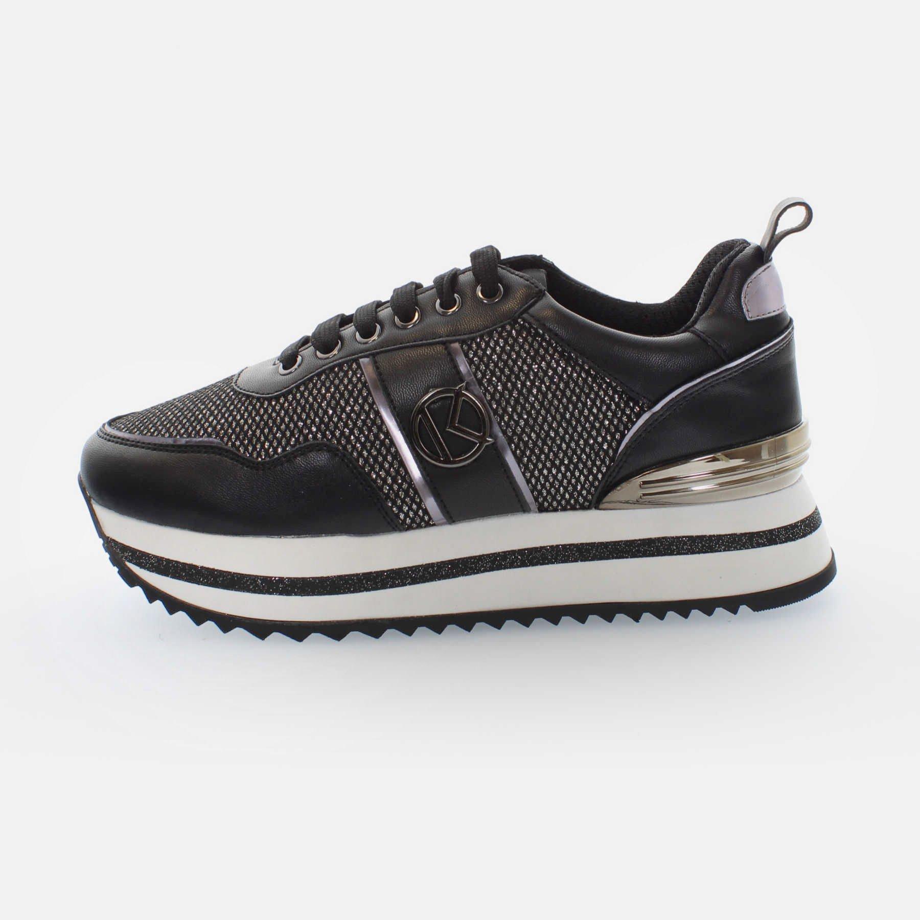 Kharisma Sneakers mesh dettagli argento nero 2017